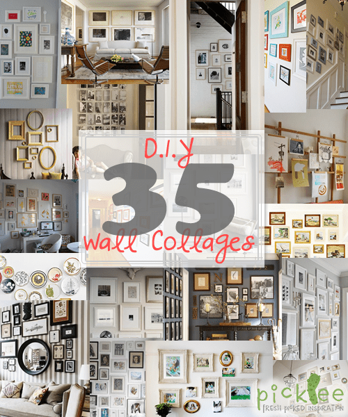 Wall Collage Picture Frames diy art/photo wall collages & endless inspiration - picklee