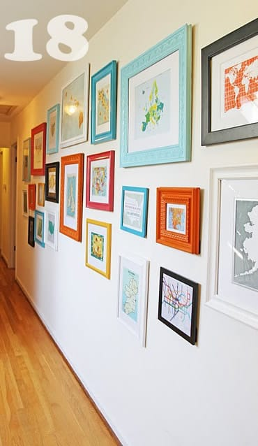 Enjoyable Poster Framing Ideas.  source DIY Art Photo Wall Collages Endless Inspiration Picklee