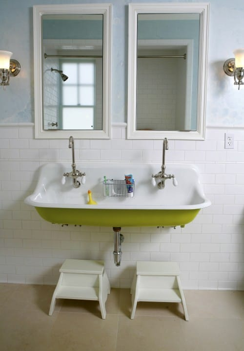 Trough Bathroom Sink With Two Faucets: Happy Friday-Cheers!