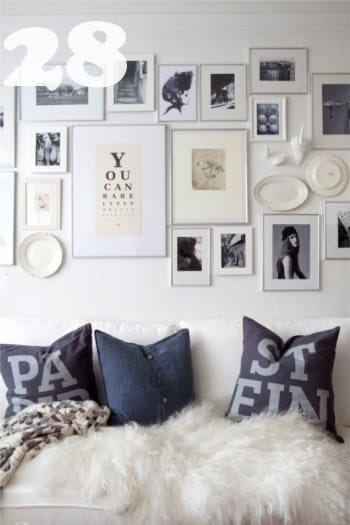 Wall Art Silver Frames : Diy art photo wall collages endless inspiration picklee
