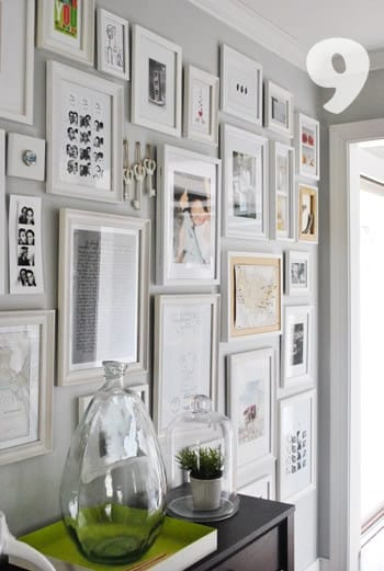 Picture frame cluster on pinterest wall collage photo for Wall of framed pictures