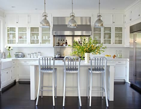 Kitchens With White Cabinets And Dark Floors 22 white kitchens that rock - picklee